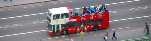 Hop-on Hop-off sightseeing tour door Londen