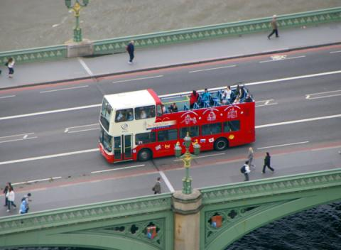 Hop-on Hop-off sightseeing tour door Londen