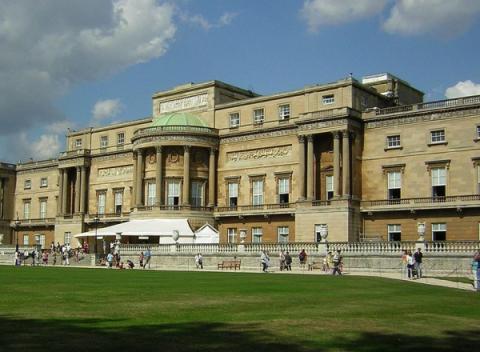 De westzijde van Buckingham Palace