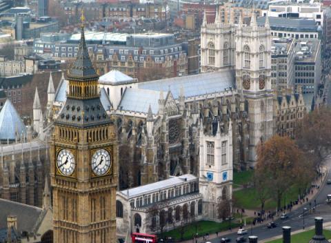Westminster Abbey vanuit Londen Eye