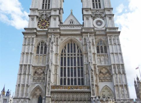 Voorkant Westminster Abbey