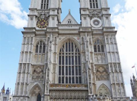 Voorkant Westminster Abbey