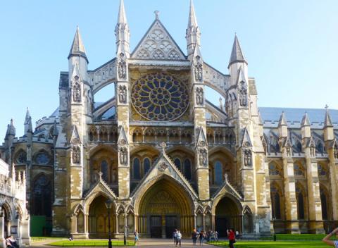 Zijkant Westminster Abbey