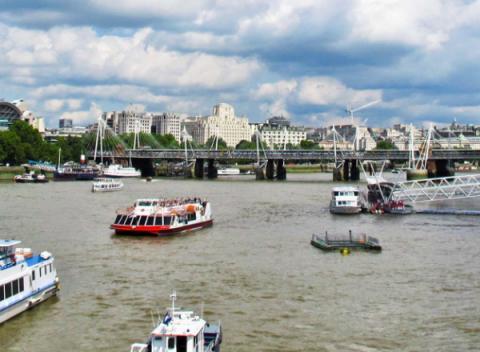Boot in Londen