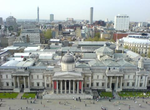 National Gallery vanaf Nelson's Column