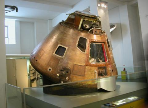De Apollo 10 capsule in het Science Museum