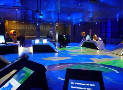 Expositie over de atmosfeer in het Science Museum