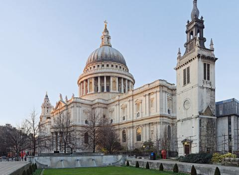 Achterzijde St.Paul's Cathedral